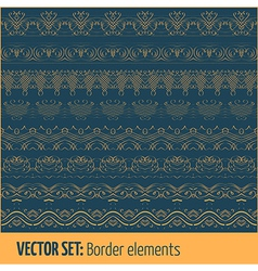 Set border elements and page decoration vector
