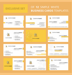 Set of 12 science lab creative busienss card vector