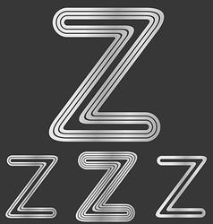 Silver line z logo design set vector