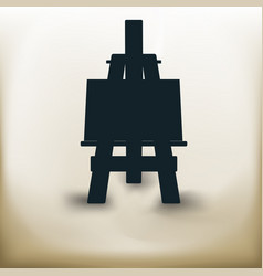 Simple easel vector