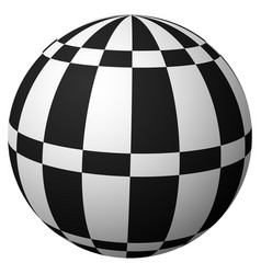 sphere with checkered surface on white art vector image