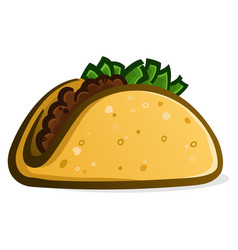 taco cartoon vector image