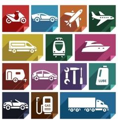 Transport flat icon-09 vector image