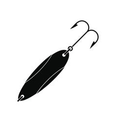 Treble fish hook black simple icon vector