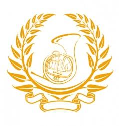 Trombone symbol vector