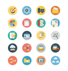 Universal Web Flat Colored Icons 3 vector