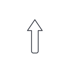 up arrow thin line icon linear symbol vector image