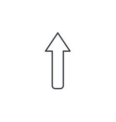 up arrow thin line icon linear symbol vector image