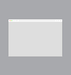Web browser window white template vector