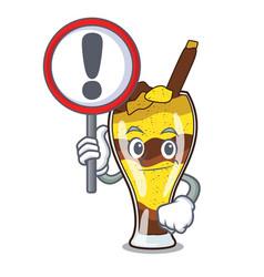 With sign mangonada fruit character cartoon vector