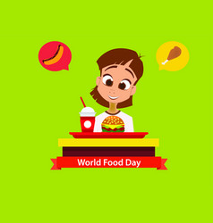 world food day greeting card vector image