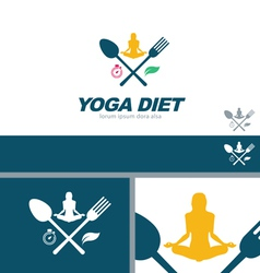 Yoga Diet Wellness Health Concept Design Element vector image