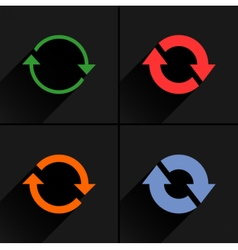 Color arrow reload rotation reset repeat icon vector