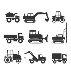Construction Machinery Icon Symbol Graphics vector image