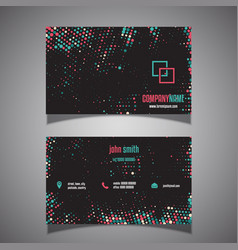 halftone dots business card vector image vector image