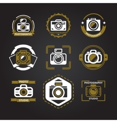 logos or icons for photographers vector image vector image