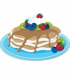 pancakes fruit vector image vector image