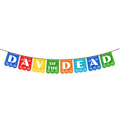 bunting for day of the dead vector image