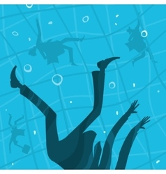 Business People drown in the water vector image vector image