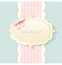 classic romantic invitation design pink vector image vector image