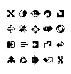 Complex business transition transform arrows and vector