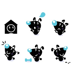 cute dog collection vector image