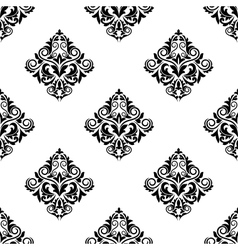 Damask-style arabesque seamless pattern vector image vector image