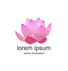 polygonal lotos flower vector image vector image