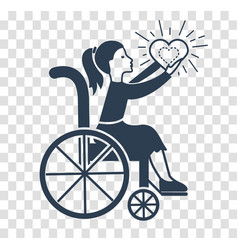 silhouette icon of disabled persons vector image
