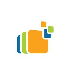 square data logo vector image vector image