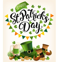 st patricks day vintage holiday banner design vector image