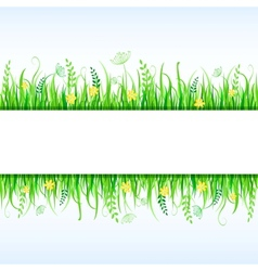 Beautiful Grass Frame vector image vector image
