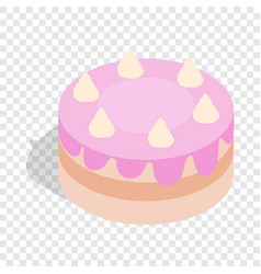 cake isometric icon vector image vector image