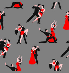 Couples dancing latin american romantic couples vector