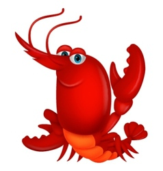 Cute lobster cartoon vector image vector image