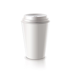 Paper coffee cup isolated vector
