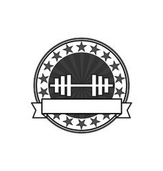 retro bodybuilding badge vector image vector image