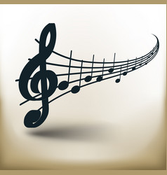 simple music notes vector image