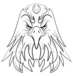 Stylized eagle head emblem vector image vector image