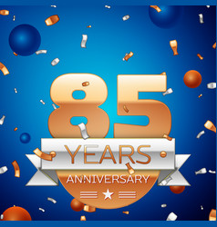 Eighty five years anniversary celebration design vector