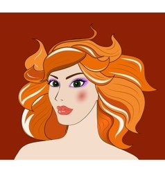 Leo beautiful girl vector image vector image