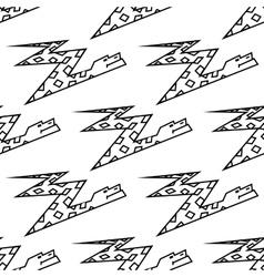 Seamless pattern of a zigzag cartoon boa snake vector image