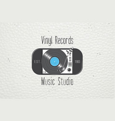 vinyl record music in the studio detailed vector image vector image
