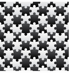 3d jigsaw tile seamless pattern blackampwhite 001 vector image