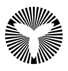 Abstract symbol made lines striped shape vector