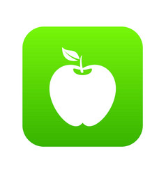 apple icon digital green vector image