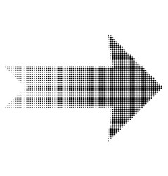 arrow halftone dots eps 10 vector image