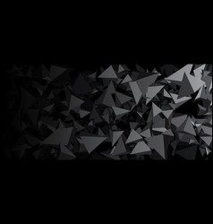 Banner with gray 3d triangles vector