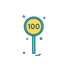 Batsmen hundred cricket icon design vector