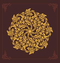 beautiful mandala ornaments design flourish gold vector image